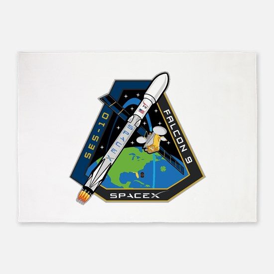 SES-10 Launch Team 5'x7'Area Rug