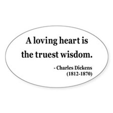 Charles Dickens 3 Oval Decal