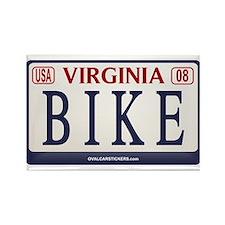 BIKE VA License Plate Rectangle Magnet