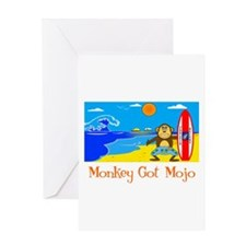 Monkey Got Mojo Greeting Card