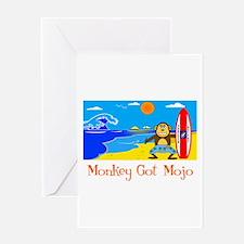 Monkey Got Mojo Greeting Card