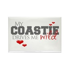 Coastie Drives me Wild Rectangle Magnet
