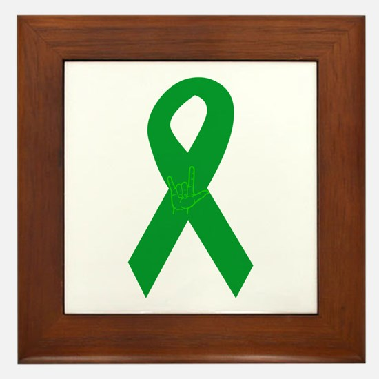 Organ Donor Ribbon Framed Tile