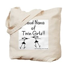 Proud Nana of Twin Girls STK Tote Bag