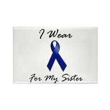 I Wear Blue For My Sister 1 Rectangle Magnet