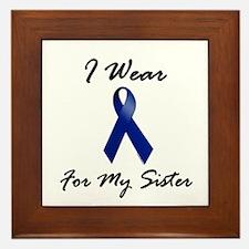 I Wear Blue For My Sister 1 Framed Tile