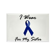 I Wear Blue For My Sister 1 Rectangle Magnet