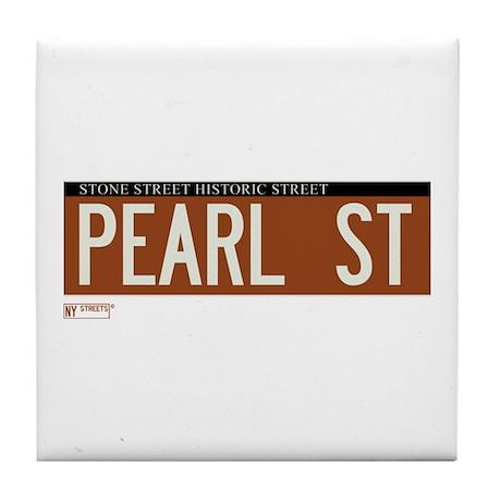 Pearl Street in NY Tile Coaster
