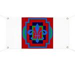 Fleur De Lis Art Deco 2 Banner