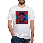 Fleur De Lis Art Deco 2 Fitted T-Shirt