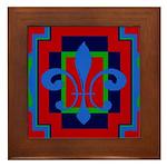 Fleur De Lis Art Deco 2 Framed Tile