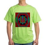 Fleur De Lis Art Deco 2 Green T-Shirt
