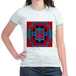 Fleur De Lis Art Deco 2 Jr. Ringer T-Shirt