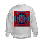 Fleur De Lis Art Deco 2 Kids Sweatshirt