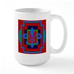 Fleur De Lis Art Deco 2 Large Mug