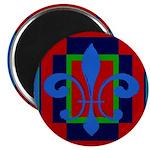 Fleur De Lis Art Deco 2 Magnet
