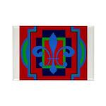 Fleur De Lis Art Deco 2 Rectangle Magnet