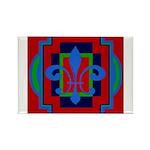 Fleur De Lis Art Deco 2 Rectangle Magnet (10 pack)
