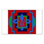 Fleur De Lis Art Deco 2 Rectangle Sticker 50 pk)