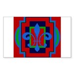 Fleur De Lis Art Deco 2 Rectangle Sticker