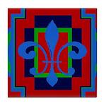 Fleur De Lis Art Deco 2 Tile Coaster