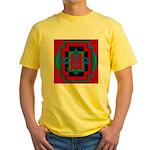 Fleur De Lis Art Deco 2 Yellow T-Shirt