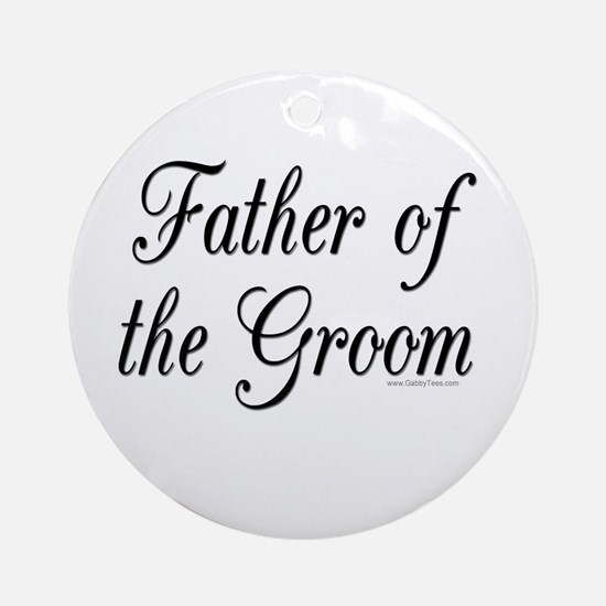 """Father of the Groom"" Keepsake (Round)"