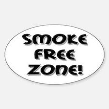 Smoke Free Zone! Oval Decal