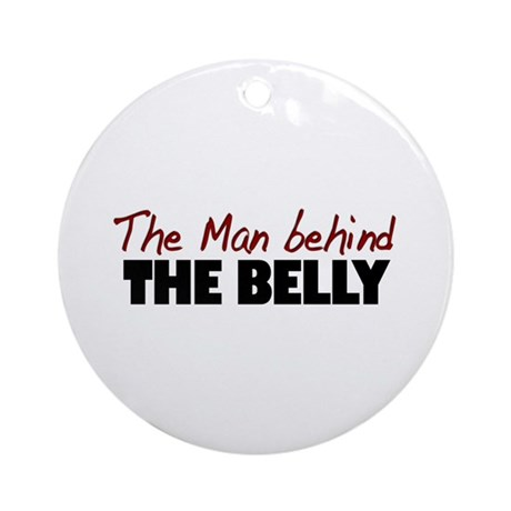Man Behind the Belly Ornament (Round)