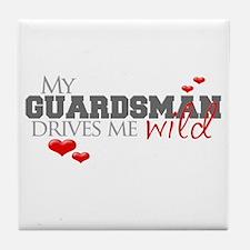 Guardsman Drives me Wild Tile Coaster