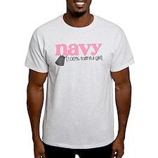 100% Faithful NAVY girl T-Shirt