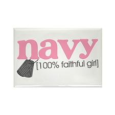 100% Faithful NAVY girl Rectangle Magnet