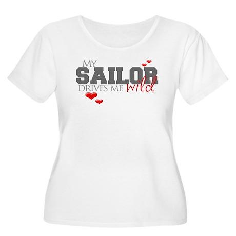 Sailor Drives me Wild Women's Plus Size Scoop Neck
