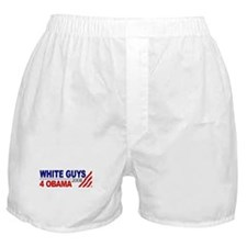 White Guys 4 Obama Boxer Shorts