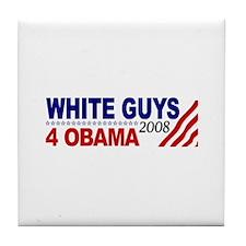 White Guys 4 Obama Tile Coaster