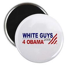 White Guys 4 Obama Magnet