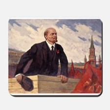 Lenin With Flags Design Mousepad