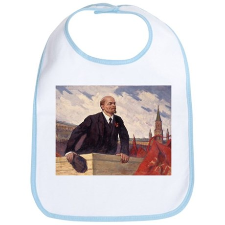 Lenin With Flags Design Bib