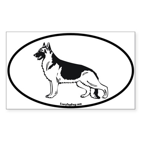 German Shepherd Rectangle Sticker