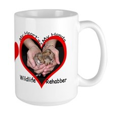 My Heart's in my Hands Squirrel Mug