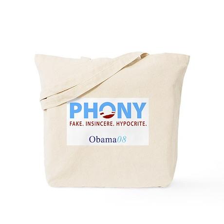 Phony Obama Tote Bag