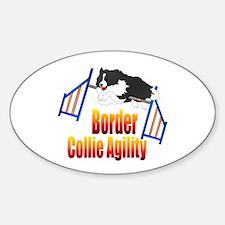 Border Collie Agility Sticker (Oval)