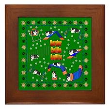 Border Collie Framed Tile