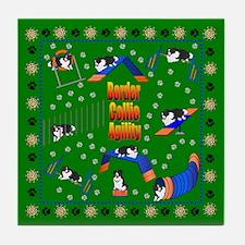 Border Collie Tile Coaster