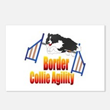Border Collie Agility Postcards (Package of 8)