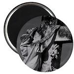"Cemetery sculpture 2.25"" Magnet (100 pack)"