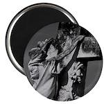 "Cemetery sculpture 2.25"" Magnet (10 pack)"