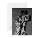 Cemetery sculpture Greeting Cards (Pk of 10)