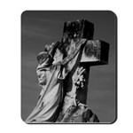 Cemetery sculpture Mousepad