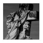 Cemetery sculpture Tile Coaster
